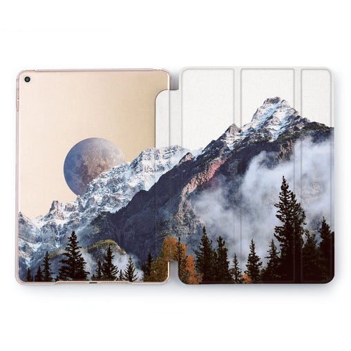 Lex Altern Foggy Mountains Case for your Apple tablet.