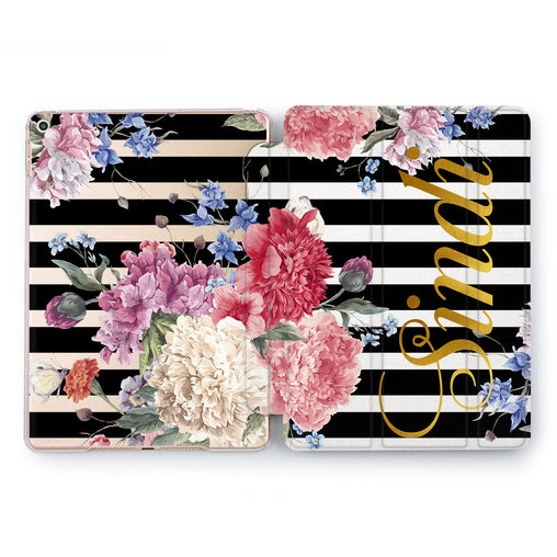 Lex Altern Floral Stripes Case for your Apple tablet.