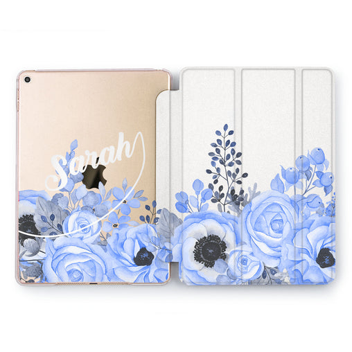 Lex Altern Blue Roses Case for your Apple tablet.