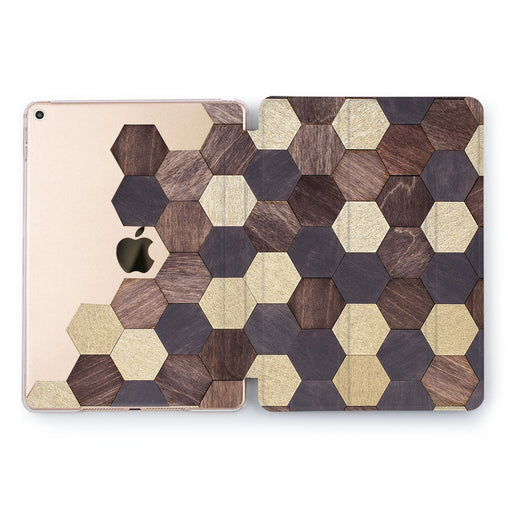 Lex Altern Wood Mosaic Case for your Apple tablet.