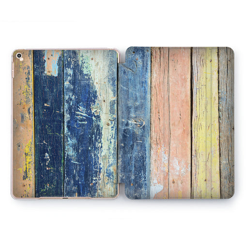 Lex Altern Colorful Planks Case for your Apple tablet.
