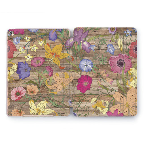 Lex Altern Floral Wood Case for your Apple tablet.