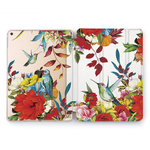 Lex Altern floral humming bird Case for your Apple tablet.