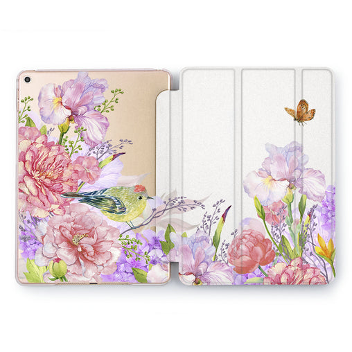 Lex Altern Flower Bird Case for your Apple tablet.