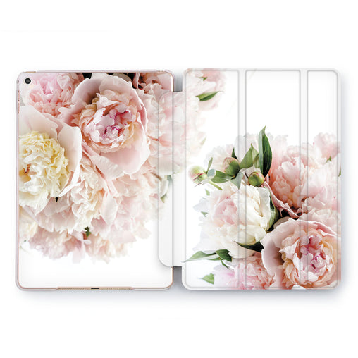 Lex Altern Gentle Peonies Case for your Apple tablet.