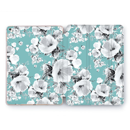 Lex Altern Cyan Flora Case for your Apple tablet.