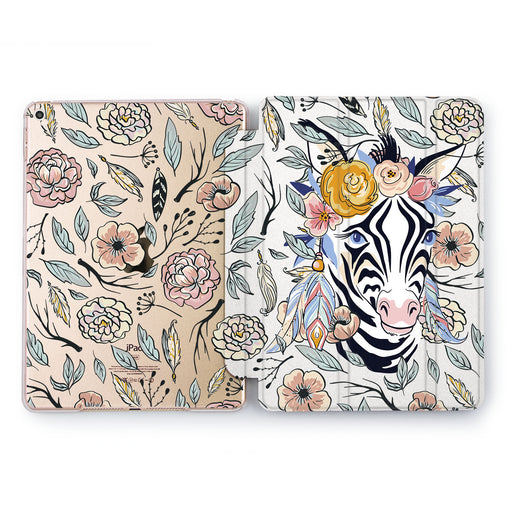 Lex Altern Flora Zebra Case for your Apple tablet.