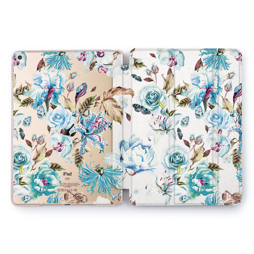 Lex Altern Blue Floral Case for your Apple tablet.