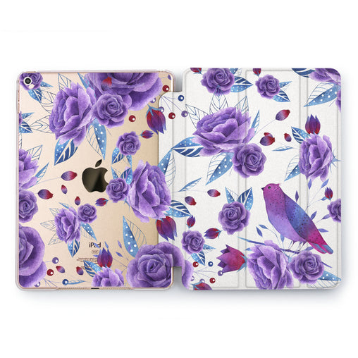 Lex Altern Purple Rose Case for your Apple tablet.