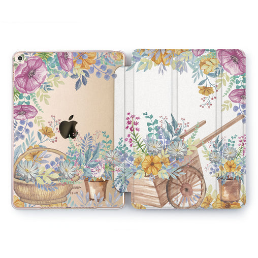 Lex Altern Flower Pushcart Case for your Apple tablet.