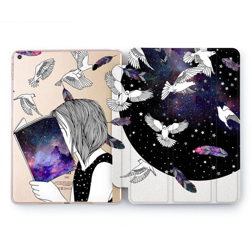 Lex Altern Space birds Case for your Apple tablet.
