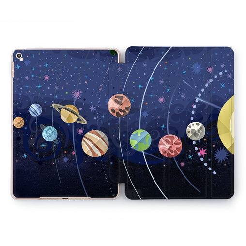 Lex Altern Planet parade Case for your Apple tablet.