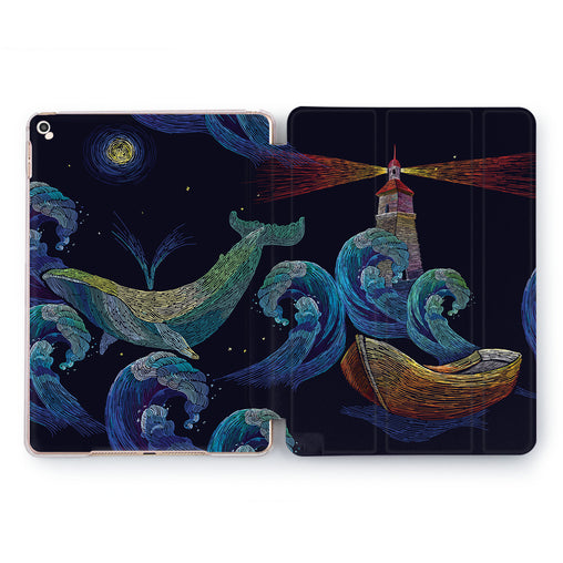 Lex Altern Dream whale Case for your Apple tablet.