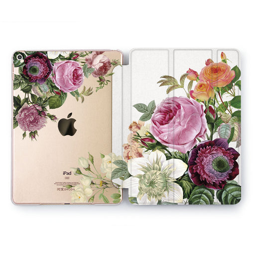 Lex Altern Pink Peonies Case for your Apple tablet.