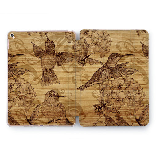 Lex Altern Wooden Birds Case for your Apple tablet.