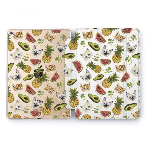 Lex Altern Fruit Cat Case for your Apple tablet.