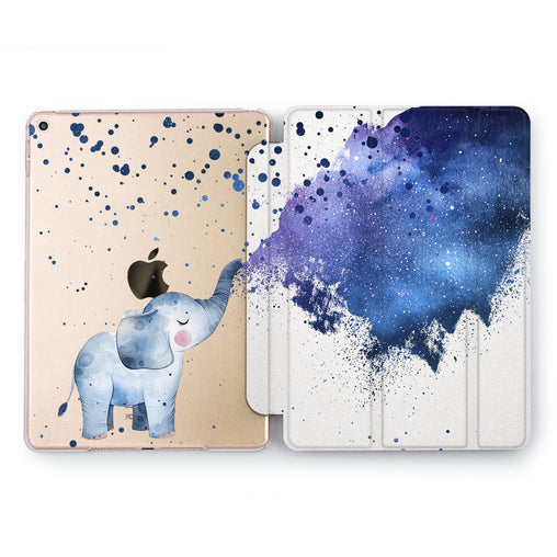 Lex Altern Space Elephant Case for your Apple tablet.