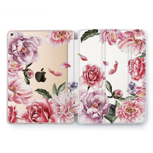 Lex Altern Pink Flowers Case for your Apple tablet.