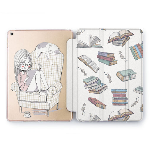 Lex Altern Book Girl Case for your Apple tablet.