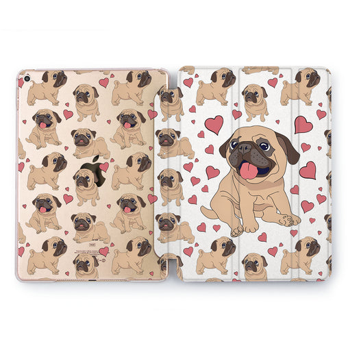 Lex Altern Pug Love Case for your Apple tablet.