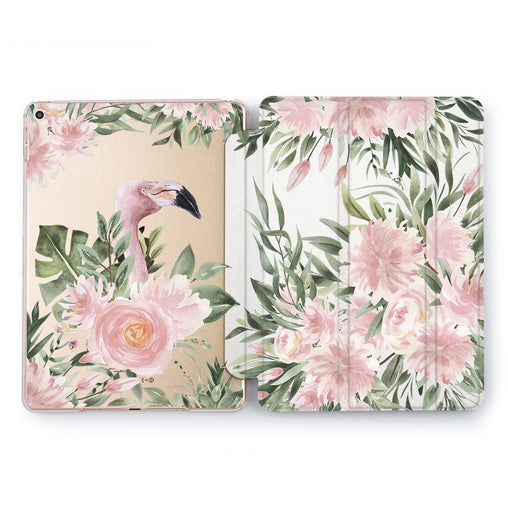 Lex Altern Flower Flamingo Case for your Apple tablet.
