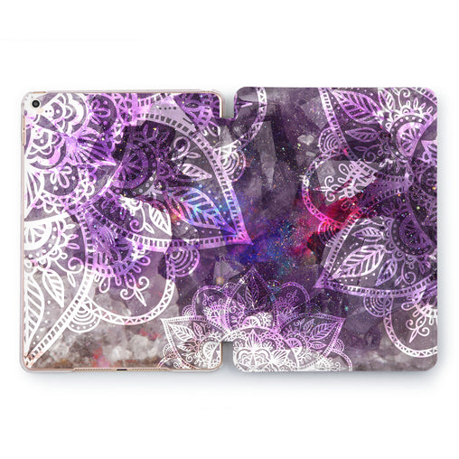 Lex Altern Purple Pattern Case for your Apple tablet.