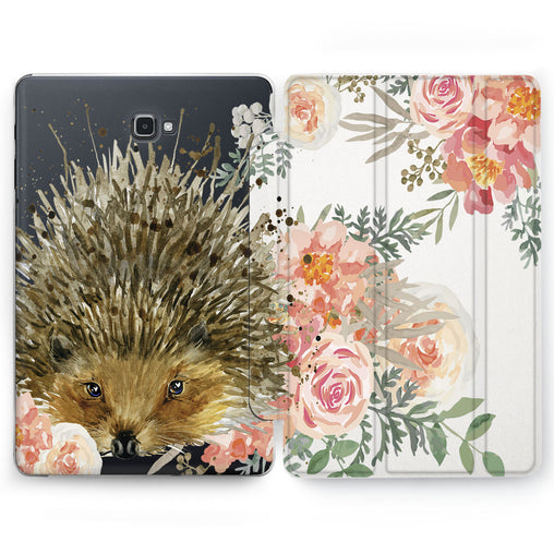Lex Altern Floral Hedgehog Case for your Samsung Galaxy tablet.