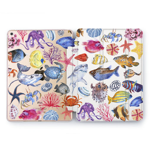 Lex Altern Ocean Creatures Case for your Apple tablet.