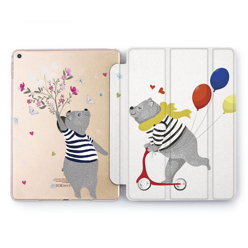 Lex Altern Bear Couple Case for your Apple tablet.