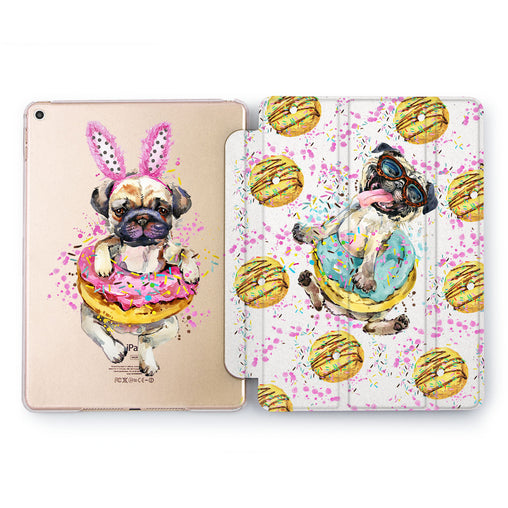 Lex Altern Donuts Pug Case for your Apple tablet.