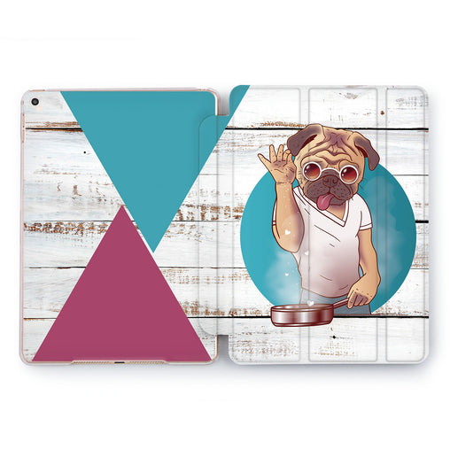 Lex Altern Pug Man Case for your Apple tablet.