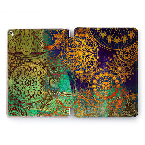 Lex Altern Iridescent Mandala Case for your Apple tablet.