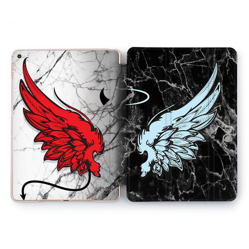 Lex Altern Angel And Devil Case for your Apple tablet.