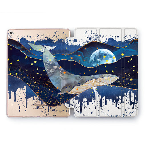 Lex Altern Dreaming Whale Case for your Apple tablet.