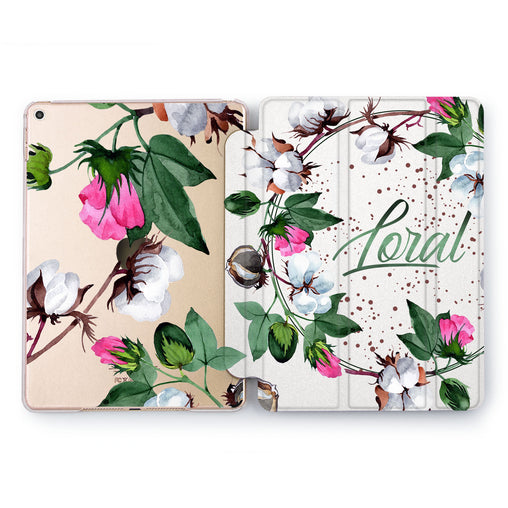 Lex Altern Cotton Blooming Case for your Apple tablet.