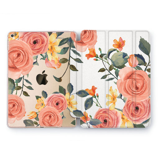 Lex Altern Peach Rose Case for your Apple tablet.