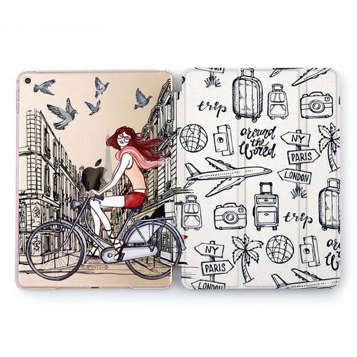 Lex Altern Bicycle Girl Case for your Apple tablet.
