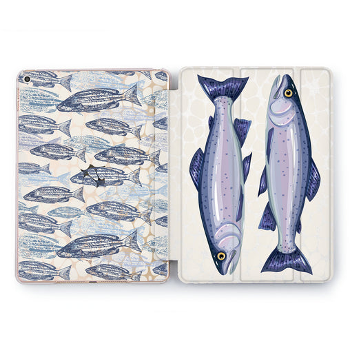 Lex Altern Blue Trout Case for your Apple tablet.