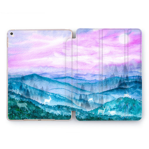 Lex Altern Watercolor Landscape Case for your Apple tablet.