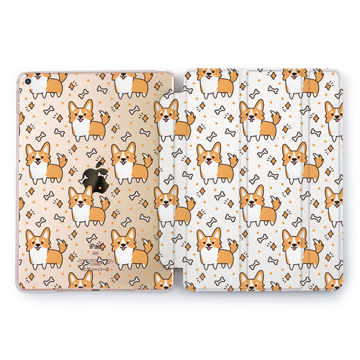 Lex Altern Corgi Bones Case for your Apple tablet.
