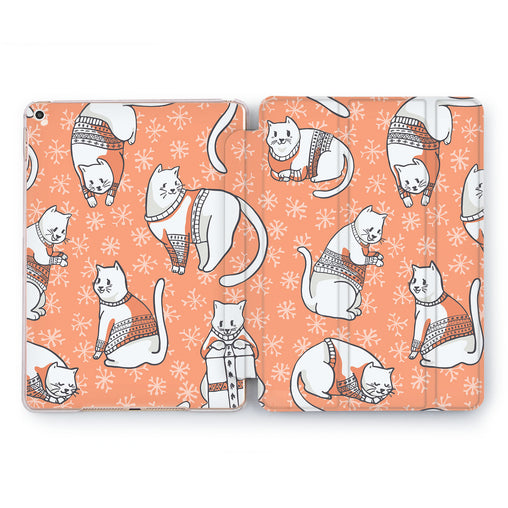 Lex Altern Cat Dress Case for your Apple tablet.