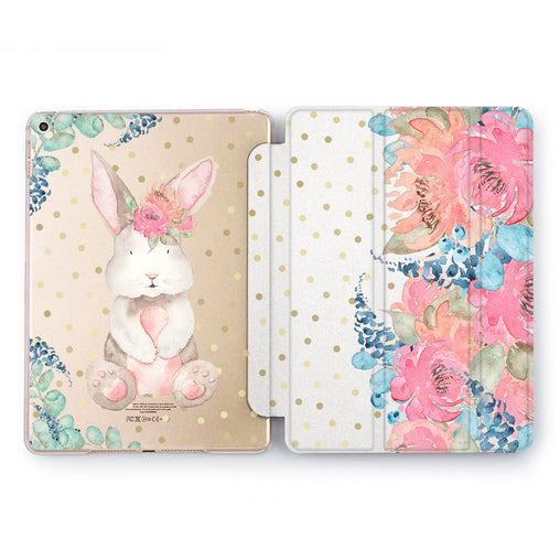 Lex Altern Floral Bunny Case for your Apple tablet.