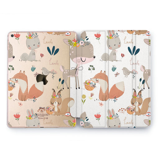 Lex Altern Forest Creatures Case for your Apple tablet.