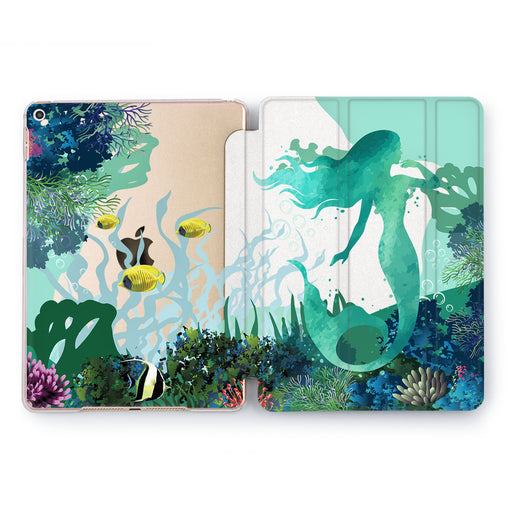 Lex Altern Cyan Mermaid Case for your Apple tablet.