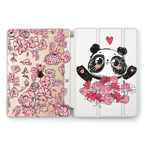 Lex Altern Floral Panda Case for your Apple tablet.