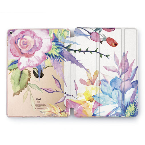 Lex Altern Violet Roses Case for your Apple tablet.
