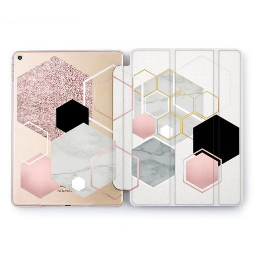 Lex Altern Hexagon Pattern iPad Case for your Apple tablet.
