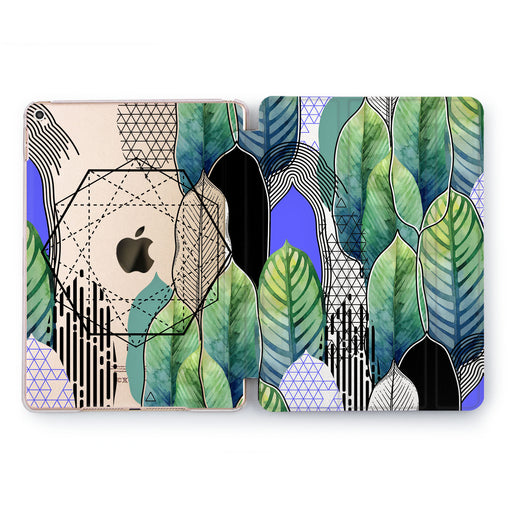 Lex Altern Hexagon Feathers Case for your Apple tablet.