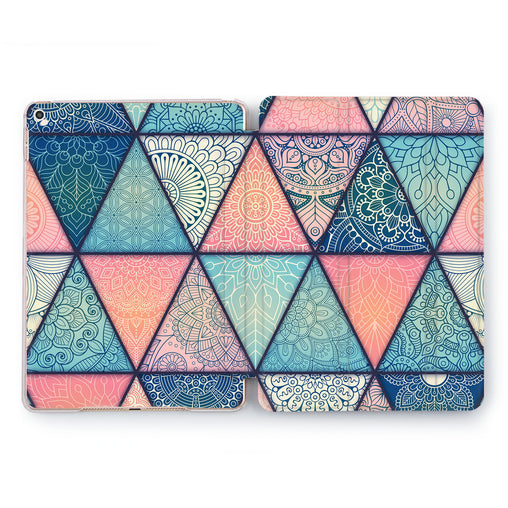 Lex Altern Boho Triangles Case for your Apple tablet.