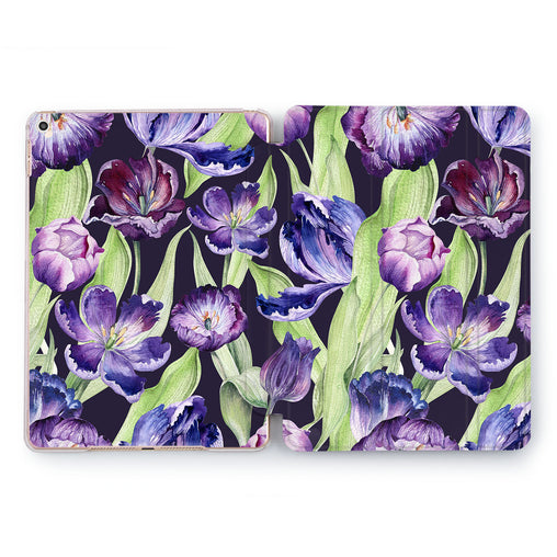 Lex Altern Purple Tulips Case for your Apple tablet.